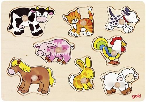 Goki 57873 Shape puzzle 8 pc(s)