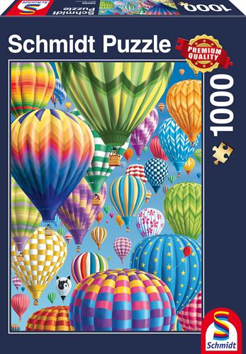 Schmidt Bonte Ballonen in de lucht, 1000 stukjes