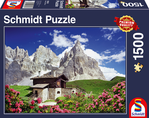Schmidt Segantini Hut, Dolomieten, 1500 stukjes