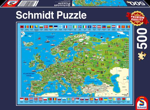 Schmidt Ontdek Europa! 500 stukjes