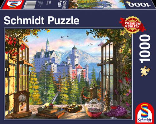 Schmidt Uitzicht op het sprookjeskasteel, 1000 stukjes