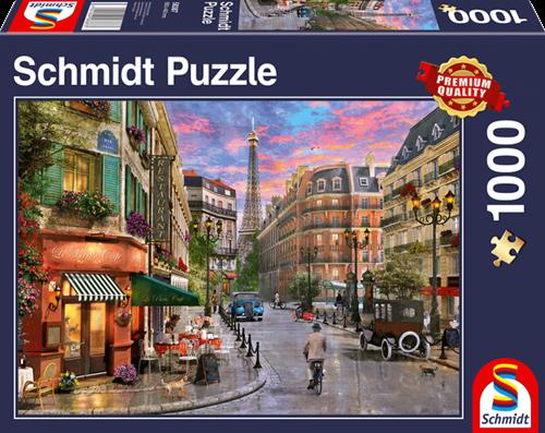 Schmidt Straat naar de Eiffeltoren, 1000 stukjes