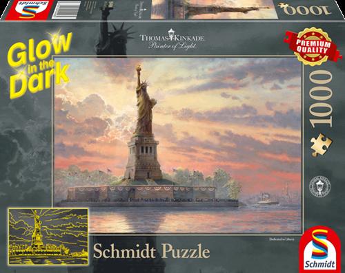Schmidt Statue of Liberty in the twilight,1000 stukjes