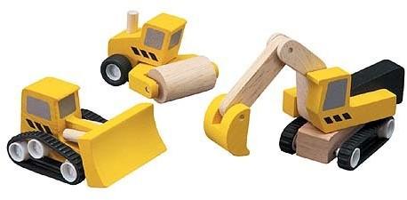 Plan Toys Wegenwerken Set