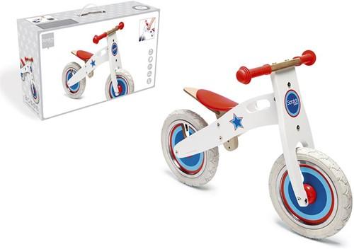 ScratchLearntobike/Balance Bike Large - Wit Met Ster