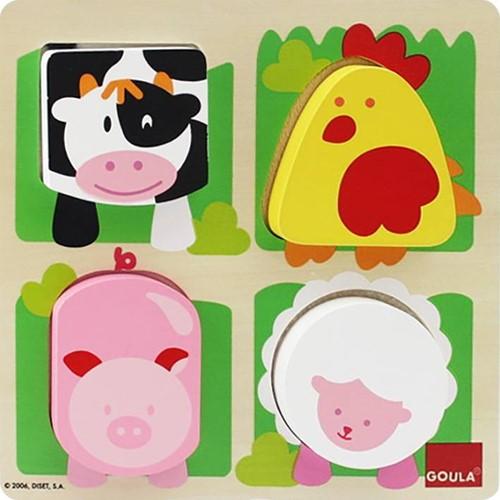 Goula Farm Animals Puzzle 4 pieces