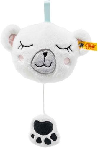 Steiff Soft Cuddly Friends Iggy polar bear music box, white/multicoloured