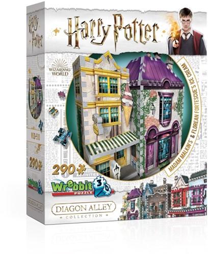 Wrebbit 3D Puzzle - Harry Potter Madam Malkin's & Florean Fortescue's Ice Cream (290)