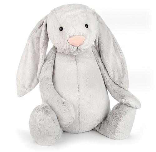 Jellycat knuffel Bashful Silver Bunny Really Really Big 108cm