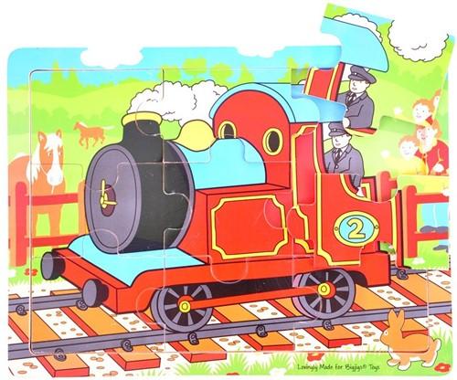 Bigjigs 9 Piece Tray Puzzle - Train