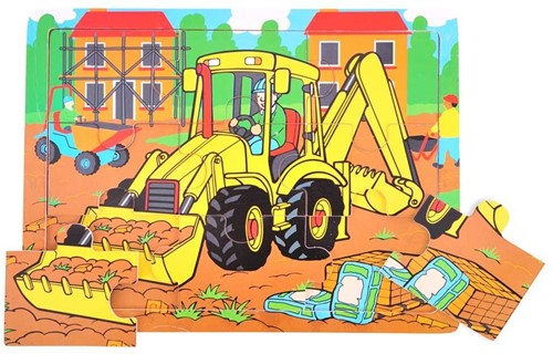 Bigjigs 9 Piece Tray Puzzle - Digger
