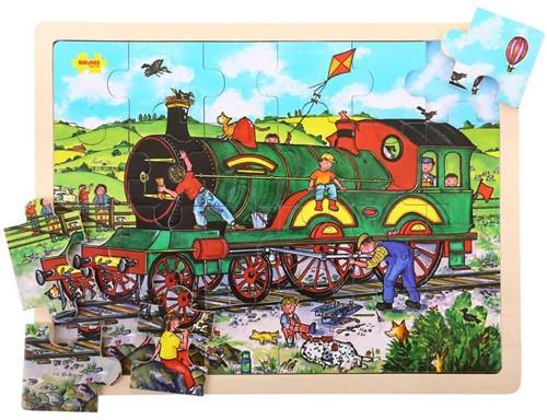 Bigjigs 24 Piece Tray Puzzle - Train