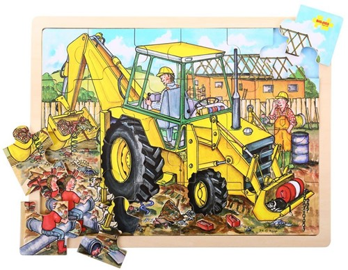 Bigjigs 24 Piece Puzzle Tray - Digger