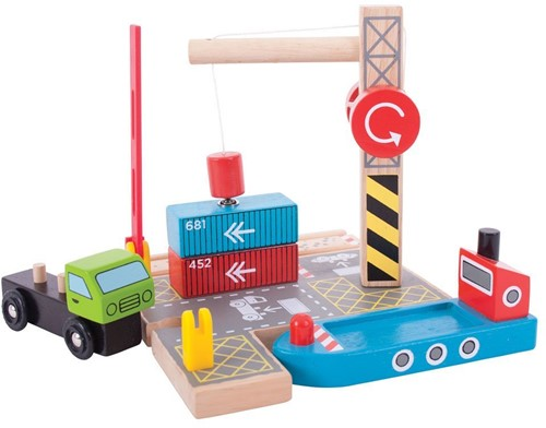 Bigjigs Container Shipping Yard