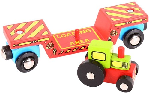 Bigjigs Tractor Low Loader (4)