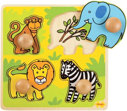Bigjigs My First Peg Puzzle - Safari