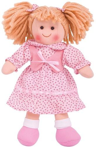 Bigjigs Sophie - Blonde Hair/Pink Star Dress/Pink Waistcoat