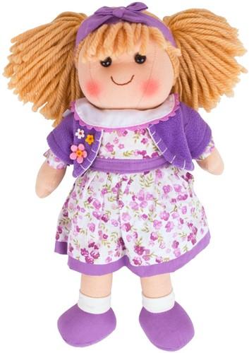 Bigjigs Laura - Blonde Hair/Violet Flower Dress/Purple Cardigan