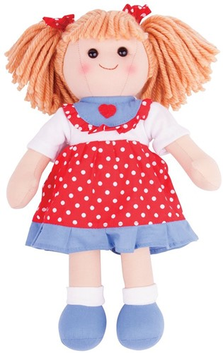 Bigjigs Emily - Red Spotty Dress