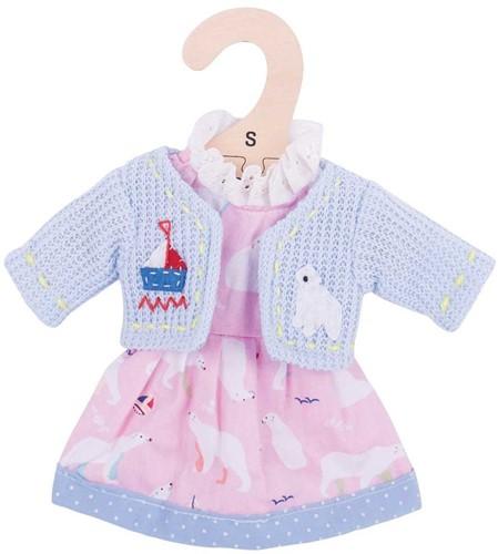 Bigjigs Polar Bear Pink Dress - Small
