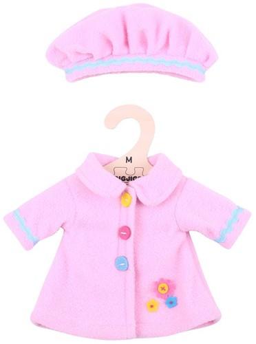 Bigjigs Pink Hat and Coat - Medium