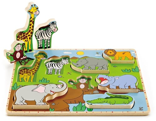 Hape Wild Animals Stand Up Puzzle