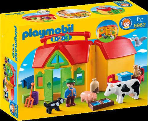 Playmobil 1.2.3 My Take Along Farm building figure