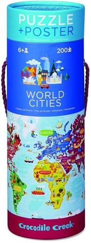 Crocodile Creek Puzzle & Poster/World Cities