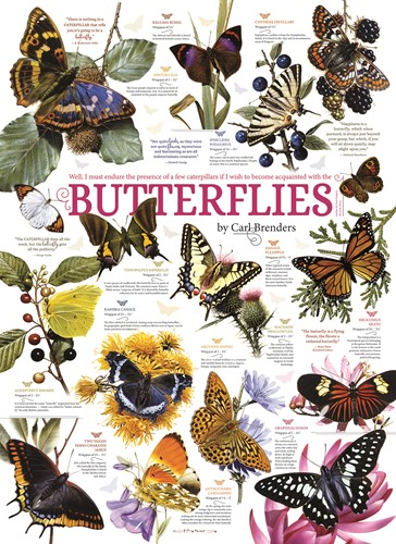 Cobble Hill puzzle 1000 pieces - Butterfly Collection