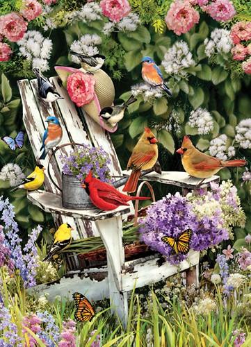 Cobble Hill puzzle 1000 pieces - Summer Adirondack Birds
