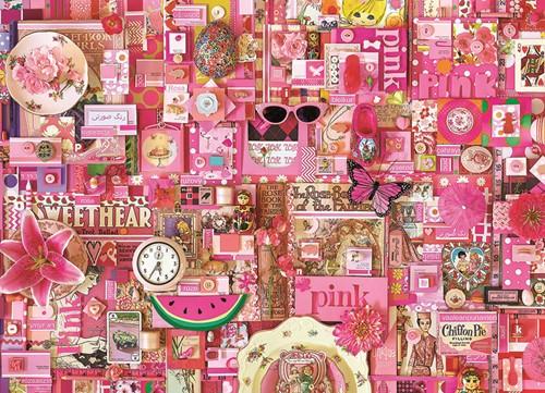 Cobble Hill puzzle 1000 pieces - Pink
