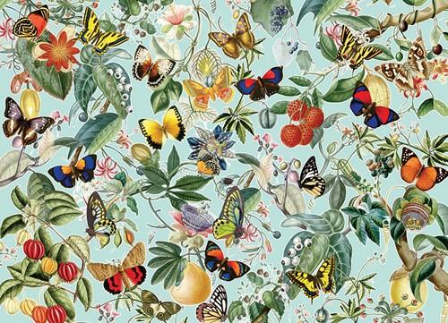 Cobble Hill puzzle 1000 pieces - Fruit and Flutterbies