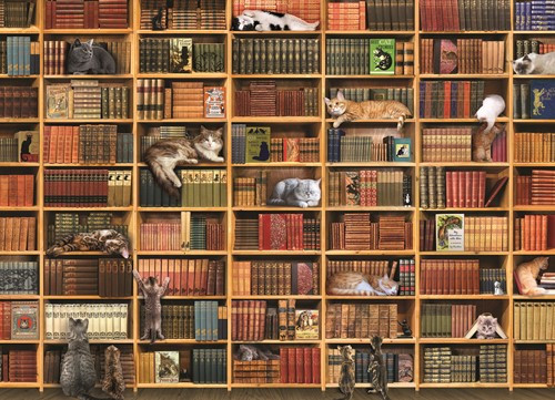 Cobble Hill puzzle 1000 pieces - The Cat Library