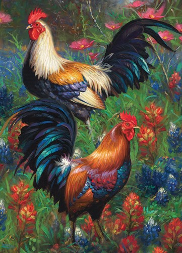 Cobble Hill puzzle 1000 pieces - Roosters