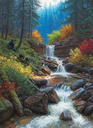 Cobble Hill puzzle 1000 pieces - Mountain Cascade