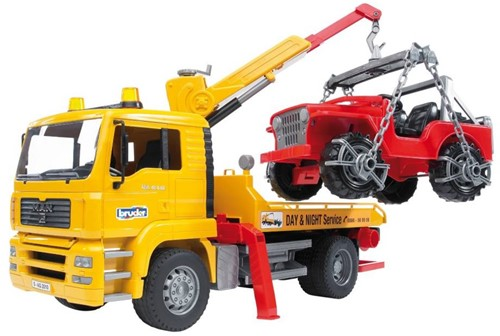 BRUDER MAN TGA Breakdown truck with cross country vehicle toy vehicle