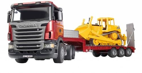 Bruder Scania R-series diepader met CAT bulldozer (03555)