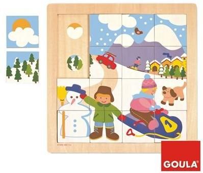 Goula Winter Puzzle Tile puzzle
