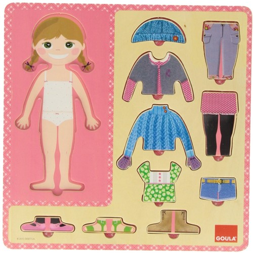 Goula To Dress A Girl Puzzle 10 pieces