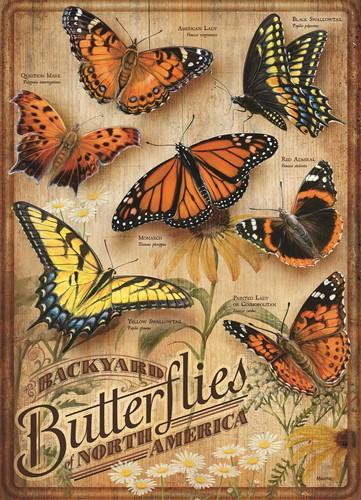 Cobble Hill puzzle 500 pieces - Backyard Butterflies