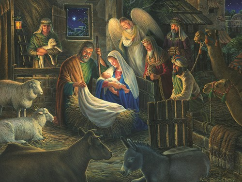 Cobble Hill puzzle 500 pieces - Away in a Manger