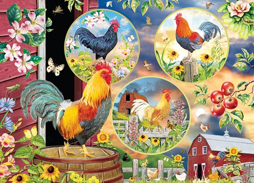 Cobble Hill puzzle 500 pieces - Rooster Magic