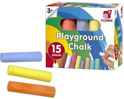 Clown Creatief Playground Chalk 15 Pc.