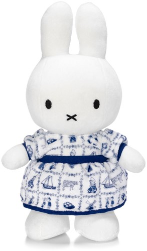 Miffy with Delft Blue dress - 34 cm