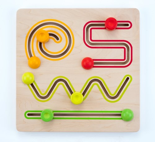 Engelhart educatief Schuifpuzzel 4 vormen multiplex/rubberhout