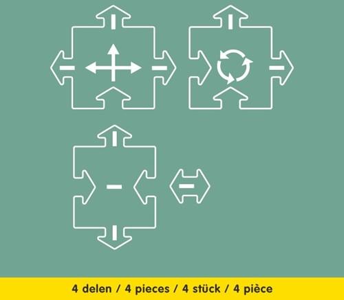 Waytoplay extension Crossings - 4 pieces