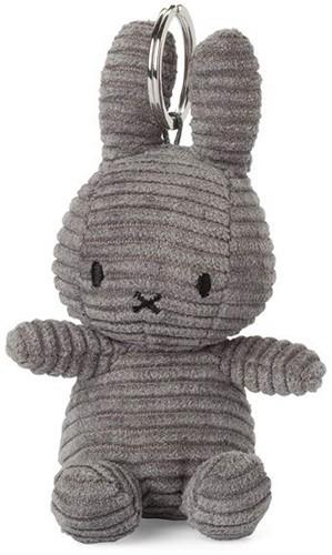 """Miffy Keychain Corduroy Dark Grey - 10 cm - 4"""""""""""