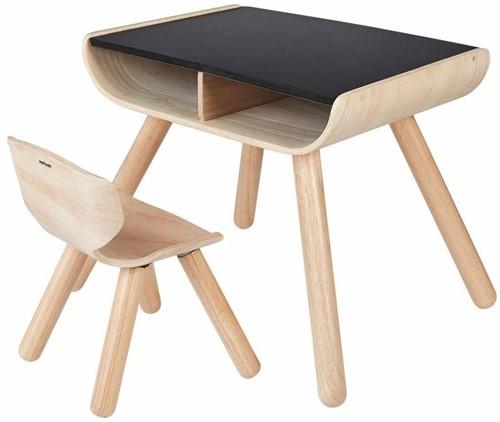 Plan Toys Tafel en stoel - Zwart