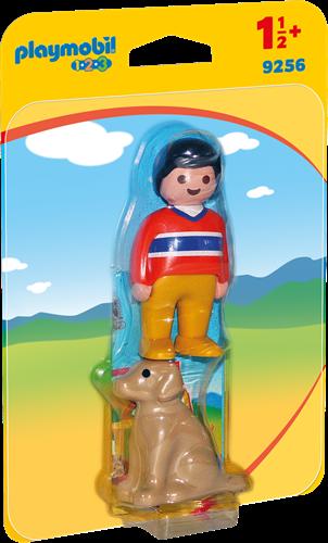 Playmobil 1.2.3 Man met hond  9256