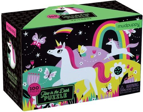 Mudpuppy Glow in Dark Puzzle/Unicorns